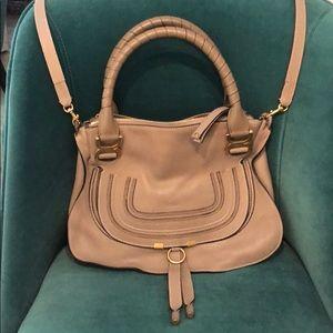 Authentic! Chloe medium Marcie bag - stone color